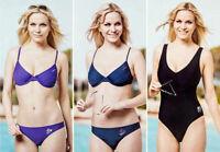 Donnay Bikini Badeanzug Bügelbikini Swimwear Badeset Lila Blau Schwarz