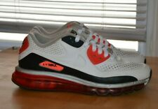 NIKE AIR MAX 90 2014 LEATHER QS 646909-100 WHITE RED INFRARED SIZE 7.5