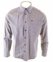 LEE Mens Shirt XL Black Striped Cotton  NI03