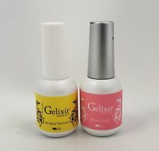 GELIXIR - Manicure Soak Off Gel - Base coat & No-wipe Top Coat - 0.5 fl. oz