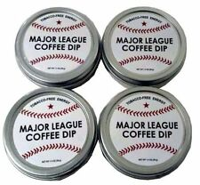 4 Pack Major League Baseball Coffee Dip Chewing Tobacco FREE Energy mlb Bat Ball