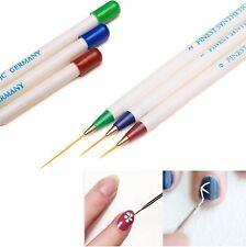 3 Pz Nail Art Brush. 3 Pennelli per micropittura professionali. Dotting tool.
