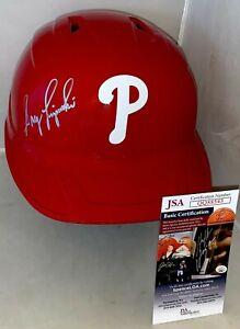 Greg Luzinski signed Philadelphia Phillies F/S Batting Helmet autographed JSA