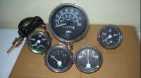 Willys-Jeep-MB-GPW-CJ-Gauges-Kit-Speedometer-MPH-KPH-Temp-Oil-Fuel-Amp-Gauge  W