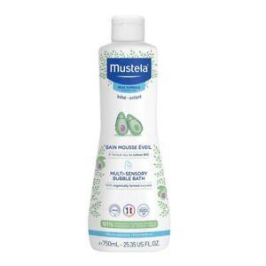 Mustela Multi-Sensory Bubble Bath 750mL Cleans and Stimulates Senses Bebe-Enfant