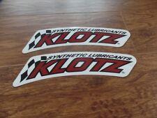 2 NEW ATV MX STICKER DECAL KLOTZ LARGE HONDA TRX 250R 450R LTR 450 YFZ Z400