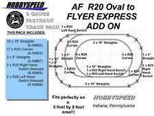 LIONEL AF FASTRACK  R20 OVAL AMERICIAN FLYER EXPRESS LAYOUT ADD ON PACK S GAUGE