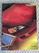 1997 Toyota Paseo Coupe Convertible Sales Brochure Catalog ORIGINAL Near Mint