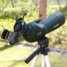 New SVBONY 20-60x60mm Zoom Spotting Scope Waterproof +Cell Phone Adapter CO