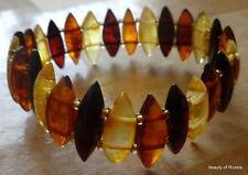 superb quality  Stretch  multicolor Baltic Amber Bracelet   polished  #2
