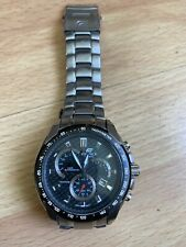 Casio-Mens-EDIFICE EF521SP-1AV Steel Bracelet-Chronograph Tachymeter Watch