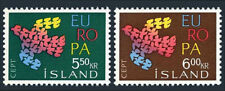 Iceland 340-341, Mnh. Europa Cept. 19 Doves Flying as One, 1961
