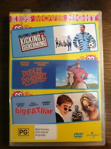 Kicking & Screaming + Dudley Do Right + Big Fat Liar : 3 Disc : NEW DVD SEALED