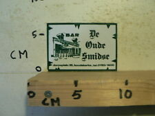 STICKER,DECAL BAR DE OUDE SMIDSE DORPSPLEIN KOUDEKERKE