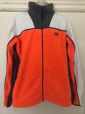 Men's Helly Hansen Workwear Zipped Fleece Fluorescent Orange White - Size XL