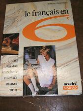 Le français en 6e - Gey Duprez - Manuel scolaire - Scodel Nathan - 1994