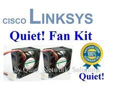 Quiet Cisco Linksys SRW2024 Fan Kit, 2x Fans 12dBA Noise Best for Home Network