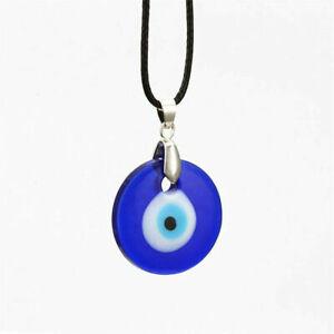 An evil eye of Nazar Pendant Talisman Turkish glass blue eye necklace US