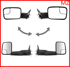 For 94-01 Dodge Ram 1500 2500 Pickup Towing Side View Mirrors Manual Pair