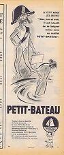 PUBLICITE ADVERTISING 114 1953 PETIT BATEAU sous vêtement pour enfants 1