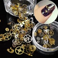 3D DIY Steampunk Mechanical Component Gear Wheel Nail Art Decoration Tips-