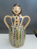 Double-sided Folk Art Red Clay Signed Oil Bottle