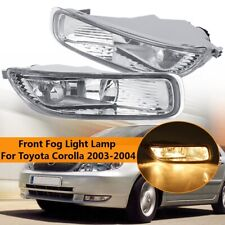 Pair Clear Lens Front Bumper Fog Light Driving Lamp For Toyota Corolla 2003 2004