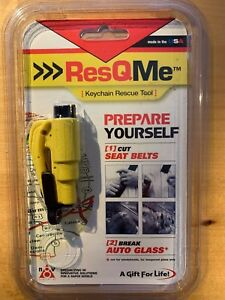Genuine ResQme seatbelt cutter &Rescue Tool Life Hammer Keyring Made in USA