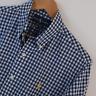 Mens Polo Ralph Lauren Blue Gingham Custom Fit Long Sleeve Shirt Size M Medium