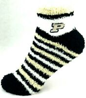 NCAA Purdue Boilermakers NCAA Fuzzy Striped Sleep Socks One Size Fits Most