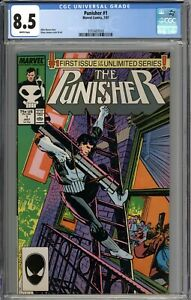 Punisher #1 CGC 8.5 VF+ WHITE PAGES