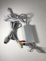 Genuine NINTENDO Wii Power Cord AC Adapter and AV Cables RVL-002 /  RVL-009