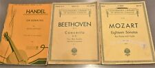 2 Schirmer's Library of Musical Classics for Violin &Piano & Cark Fisher Handel