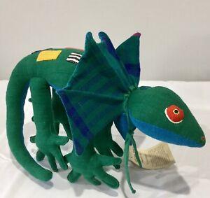 Australian Frilled Neck Lizard Suffed Toy Barbara Samsoni Handmade WITH TAG