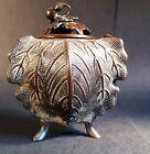 Antique 19C Chinese Qing Dynasty Bronze Censor. Incense Burner / Camellia Bud