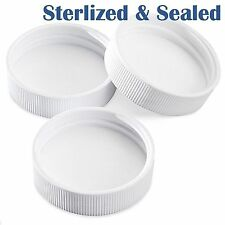 Sterilized & Sealed 20 PLASTIC SCREW CAPS 1 GALLON + JUGS 38 GLASS REPLACEMENT !