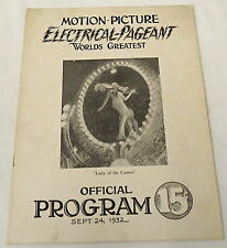 1932 Program ~ Motion-Picture Electrical-Pageant Worlds Greatest