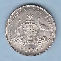 Australia.. 1926 Florin..   Full Lustre - aU/UNC