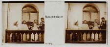 Colon Français avec une Algérienne Photo Plaque de verre Stereo 1907