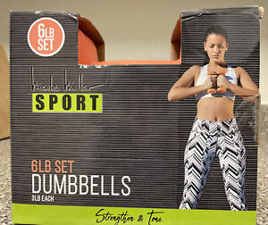 Nicole Miller Dumbbell 3lb Weights Workout Strengthen Tone Fitness
