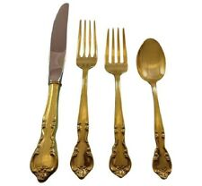American Classic by Easterling Sterling Silver Flatware Service 12 Set Vermeil