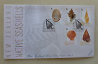 2015 NEW ZEALAND SEASHELLS SET OF 5 STAMPS FDC FIRST DAY COVER