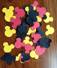 Confetti 100 Red Black Yellow Mickey Minnie Mouse Head Birthday Party Shower