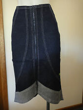 Spank London Asymmetrical Denim Skirt Size S