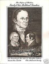 Early Ohio Political Leaders Microfilm Papers Book OHS Historical Society Rare