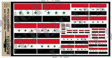 Diorama Accessory - Iraq ('63-91) / Syria ('63-72) Flag - 1/72, 1/48, 1/32, 1/35
