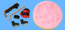 HOCKEY SILICONE MOULD FOR CAKE TOPPERS CHOC CLAY ETC
