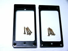 2 ELECTRIC GUITAR LP BLACK PICKUP RINGS SURROUNDS + GOLD SURROUND SCREWS