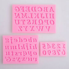 3× Alphabet Letter Number Silicone Fondant Mould Birthday Cake Decorating Tool