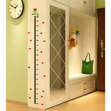 Heart Grow Up Height Measurement Wall Sticker | Love Growth Chart Kid Room Decal